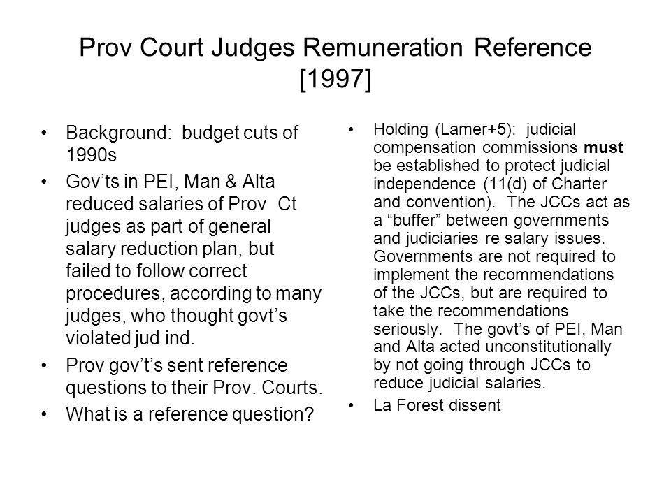 Prov Court Judges Remuneration Reference [1997]
